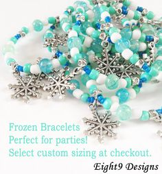 Frozen Snowflake Charm Bracelet by #Eight9Designs on SALE right now!! $3.50 #ana #elsa