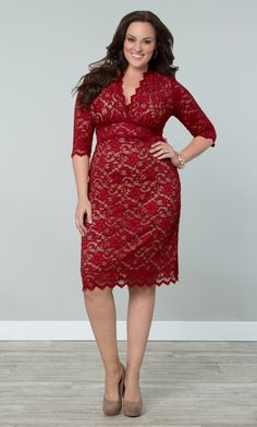 Check out the deal on Scalloped Boudoir Lace Dress at Kiyonna Clothing