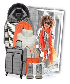 """""""Expandable Spinner Suitcase (Grey Glen Plaid)"""" by tasha1973 ❤ liked on Polyvore featuring Temperley London, Andrew Marc, Joules, Laura Biagiotti, Tod's, Crate and Barrel, London Fog, Sole Society and Dr. Martens"""