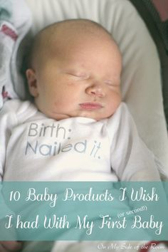 10 baby products I wish I had with my first (or second!) baby. Favorite postpartum and baby items. Extremely helpful ideas for a new or nursing breastfeeding mom.