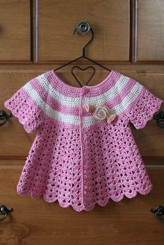 Sweet Candy Cardi by Yarn Theory, via Flickr.  Wish I could remember how to crochet or read a pattern!  #craftingchallenged