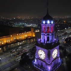 La torre iluminada