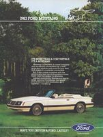Mustang Convertible 1983 Ad Picture