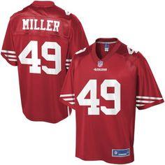 Pro Line Men's San Francisco 49ers Bruce Miller Team Color Jersey