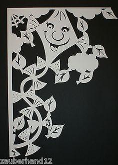 Fensterbild XXL,filigran,Herbstdrachen,Fensterecke,Tonkarton,filigranes,Herbst