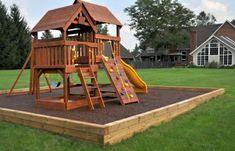 Spielhaus mit Klettergerüst Garten herrlicher Look