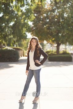 High School Senior pictures - I love the lighting in this one. Great full-body shot!
