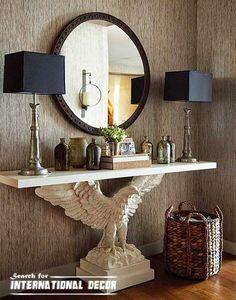 Console de mesa de luxo para o interior moderno