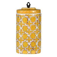 Ceramic Yellow Vase.
