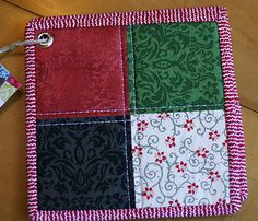 insulated quilted potholders set