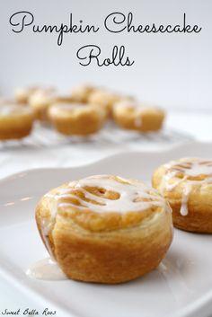 pumpkin cheesecake rolls #fall #yummyrecipe