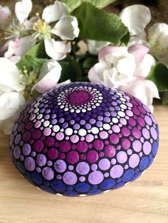 Log in to your Etsy account. Lilac Painting, Dot Painting, Lilac Color, Purple Lilac, Mandala Print, Mandala Rocks, One More Step, Painted Rocks, Create Yourself