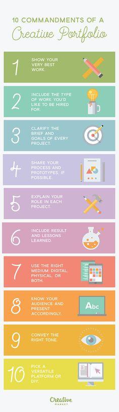 On the Creative Market Blog - 10 Commandments of An Awesome Creative Portfolio