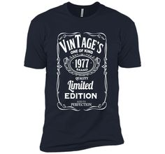 39th Birthday Vintage 1977 Limited Edition T-shirt