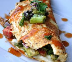 Honey, What's Cooking?: Avocado Black Bean Omelette... Perfect for Mother's Day! After the Oprah Show - Part 2.