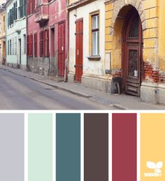 street tones - design seeds : : use the grey for the ceiling in the master bedroom Colour Pallette, Colour Schemes, Color Combos, Color Patterns, Color Tones, Room Colors, House Colors, Colours, Design Seeds