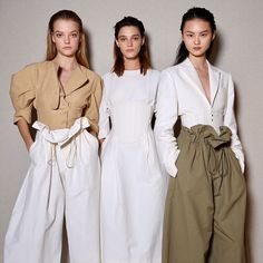 The first Summer 2017 looks! Organic wovens in washed cotton muslin feature with opposing dimensions in natural and earthy tones.