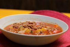 Veganer Gulasch Seitan, Chili, Vegan Recipes, Soup, Yum Yum, Beverage, Blog, Savory Foods, Meat