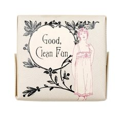 """""""Good Clean Fun"""" soap, from izola.com. would be cute for a shower favor;-)"""