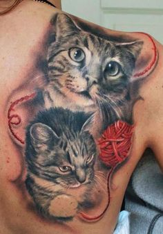 cat tattoo - 55 Examples of Cute Cat Tattoo <3 !