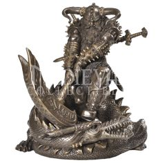 Battling Thor Statue - CC8431 by Medieval Collectibles