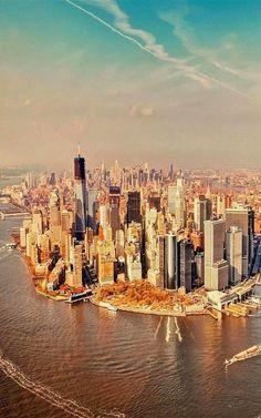 Birds View - Manhattan, New York City