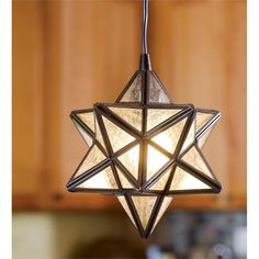 "8""W x 10""H Moravian Star Pendant Light | Holiday Lighting"