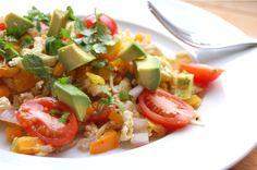 Spicy Egg Scramble with Avocado & Cilantro