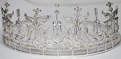 Victorian Look 9.96ctw Rose Cut Diamond .925 Sterling Silver Wedding Tiara