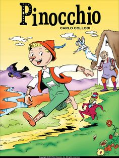 Pinocchio Book Cover Children's Books, Comic Books, Pinocchio, Comics, Cover, Anime, Cartoon Movies, Cartoons, Cartoons