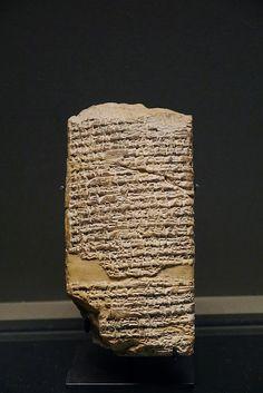 Tablette concernant un mythe sumérien sur les origines du monde - fin 3ème millénaire -  le Louvre Paris