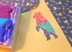 Geometric Bear Stamp