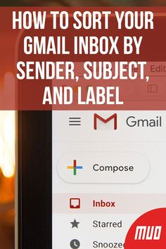How to Sort Your Gmail Inbox by Sender, Subject, and Label Computer Troubleshooting, Gmail Hacks, Computer Technology, Computer Help, Computer Tips, School Computers, Minding My Own Business, Office Organization At Work, Google Classroom