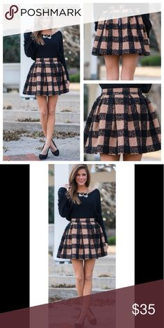 Molly Plaid Skirt The skirt is just adorable, *plaid* and simple! The full volume and stunning print create a look that is perfect for the holiday season! Wouldn't this one be great for a party? Honey Punch 50% wool  50% polyester. 🙂🙂🙂20% off of BUNDLES OF TWO or more items. Bundles of one will be ignored, however REASONABLE offers are welcome. ❌❌ Sorry no trades. Honey Punch Skirts Mini