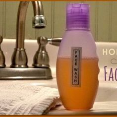 cool Homemade Face Wash - A Natural Facial Cleanser
