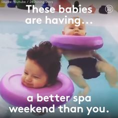 These Babies Are Having A Better Spa Weekend Than You Babies get to have relaxing spa treatments at baby spas around the world, because it's good for their newborn body development. Baby Massage, Cute Kids, Cute Babies, Baby Spa, Baby Baby, Spa Weekend, Baby Needs, Baby Time, Baby Hacks