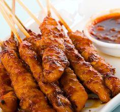 Indonesian Pork Tenderloin Skewers Recipe from Grandmother's Kitchen