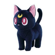 Banprest Sailor moon Ichiban kuji Pretty Treasures B Prize Luna Plush doll Sailor Moons, Sailor Moon Luna, Sailor Moon Toys, Sailor Moon Merchandise, Anime Merchandise, Big Plush, Cute Plush, Catty Noir, Cute Stuffed Animals