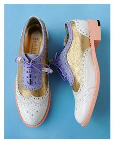 ABO + Ana Ljubinkovic brogues #abo #shoes #brogues #ana_ljubinkovic #oxfords #pastel