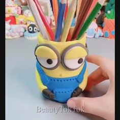 10 Children's clay modelling ideas Hand Crafts For Kids, Clay Crafts For Kids, Clay Pot Crafts, Foam Crafts, Diy Arts And Crafts, Cute Polymer Clay, Cute Clay, Polymer Clay Crafts, Diy Clay