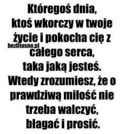Ale ja nie chce kogoś tylko tego na którym mi zależy. Couple Quotes, Words Quotes, Me Quotes, Sayings, Weekend Humor, Love Text, Sad Life, Some Words, Positive Thoughts