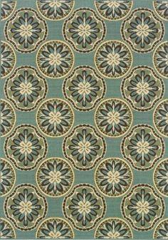 "Granville Rugs Monterey Indoor/Outdoor Area Rug, Blue/Cream/Brown, 6' 7"" x 9' 6"" Oriental Weavers,http://www.amazon.com/dp/B004W55ZCW/ref=cm_sw_r_pi_dp_3Mgttb1RZDNC9ZJ4"