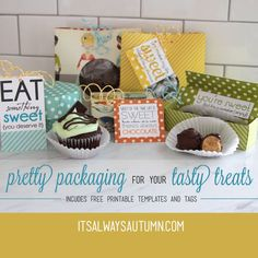 it's always autumn - itsalwaysautumn - free template downloads and instructions for treat packaging