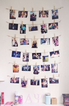 You could definitely do this with a poloroid! It totally reminds me of a huge…