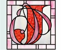 Letter J Doubled up stained glass monogram or initial patterns []$2.50 | PDQ Patterns