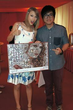 Universal Music Malaysia:The Taylor Swift Fan Club Malaysia collected a whole lot of pictures of Swifties and made a collage of Taylor her...