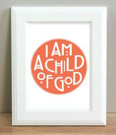 I am a Child of God. Nuf said. (I see it in yellow vs whatever that is. Just saying.) To each her own. :)