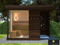 Diy Sauna, Sauna House, Sauna Room, House Without Walls, Scandinavian Saunas, Sauna Shower, Patio Design, House Design, Sauna Design