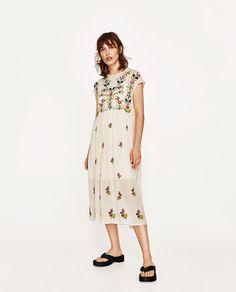 PLUMETIS EMBROIDERED DRESS-DRESSES-WOMAN | ZARA United Kingdom