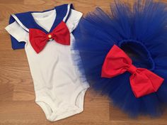 Sailor Moon tutu set sailor moon baby outfit by PaisleyBows